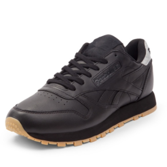4e309b57 Rare Reebok black leather classic diamond gum